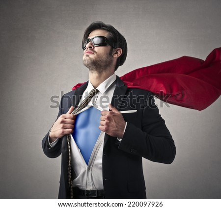 I'm a superhero  - stock photo