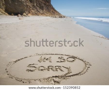 I'm so sorry, the apology - stock photo