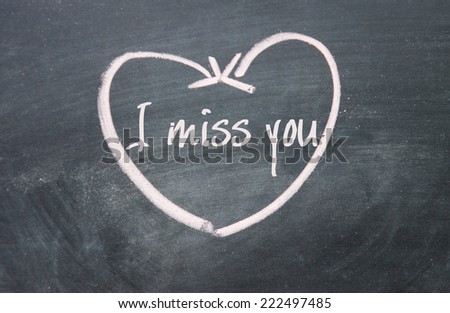 Miss You Text Heart Sign On Stock Illustration 222497485 Shutterstock