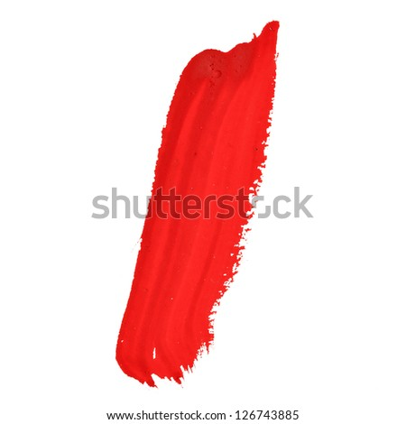 I - Red handwritten letters over white background