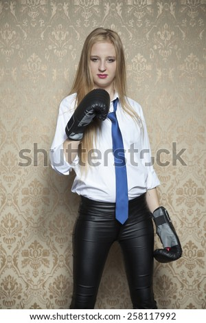 i will fight for my business - stock photo