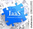 IAAS - Infrastructure-as-a-Service - Written on Blue Puzzle Pieces. Information Technology Concept. 3D Render. - stock photo