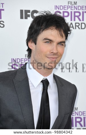 Ian Somerhalder at the 2012 Film Independent Spirit Awards on the beach in Santa Monica, CA. February 25, 2012  Santa Monica, CA Picture: Paul Smith / Featureflash