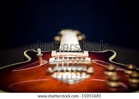 Ibanez guitar on black - stock photo