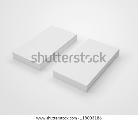 IBlank Business Cards - stock photo