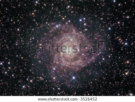 IC 342 galaxy in Camelopardalis - stock photo