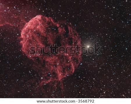 IC 443 Supernova remnant in Gemini - stock photo