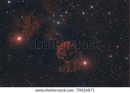 IC 443, The Jellyfish Nebula - stock photo