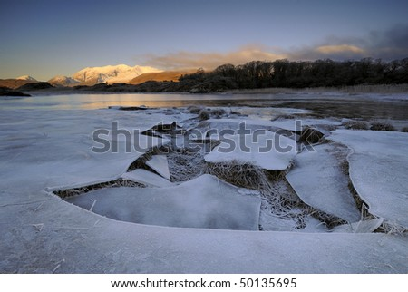 Ice Age in Ireland - stock photo