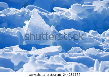 Ice and snow. - stock photo