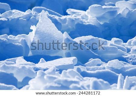 Ice and snow. - stock photo