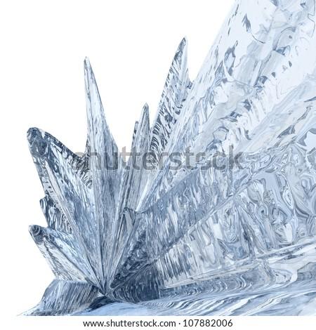 Ice background. Beautiful blue textured abstract background of frozen splash - stock photo