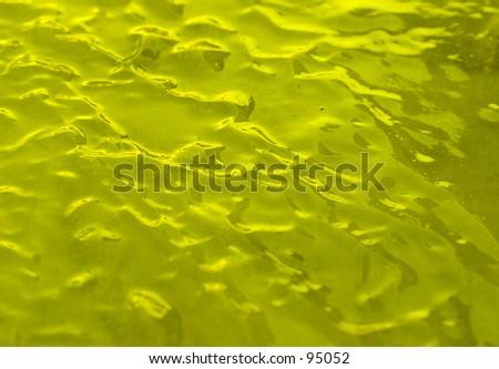 Ice Background, yellow tone - stock photo