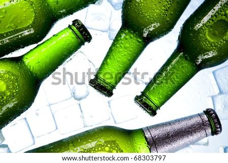 Ice beer - stock photo