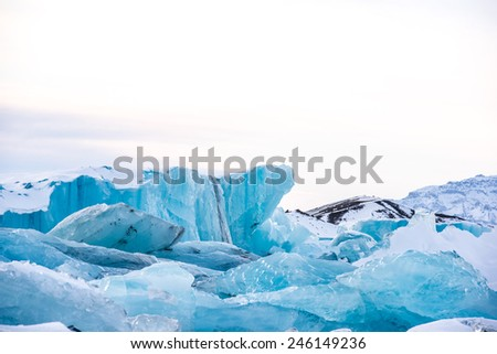 Ice bergs - stock photo