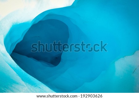 Ice cave in Fox Glacier, South Island New Zealand - stock photo