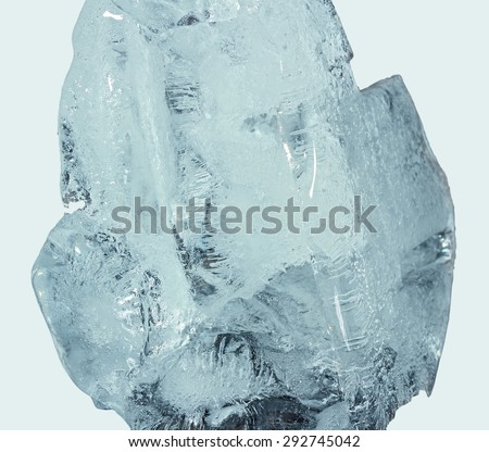 Ice. Chunk of ice. Close-up - stock photo