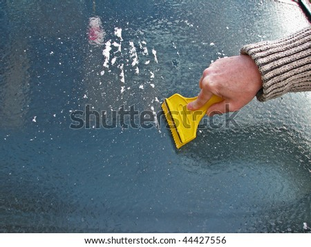 ice cleaning - stock photo