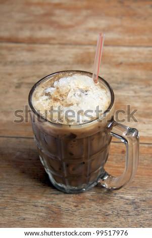 ice coffee in a mug. Thai style - stock photo