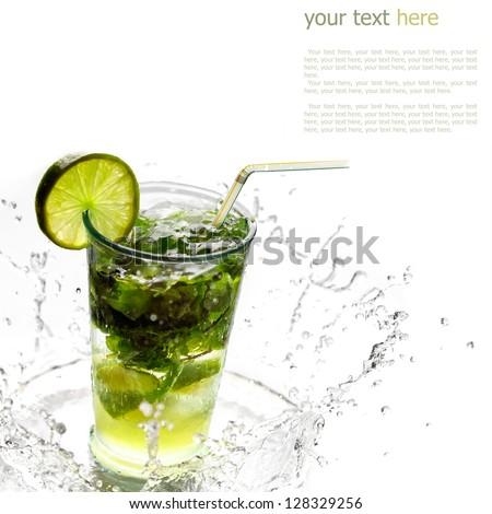 Ice cold Mojito spray - stock photo
