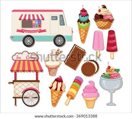 Ice cream clipart stock illustration 369013388 shutterstock ice cream clipart voltagebd Gallery