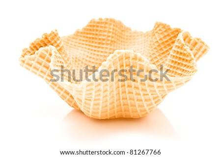Ice cream cone isolated on white - stock photo