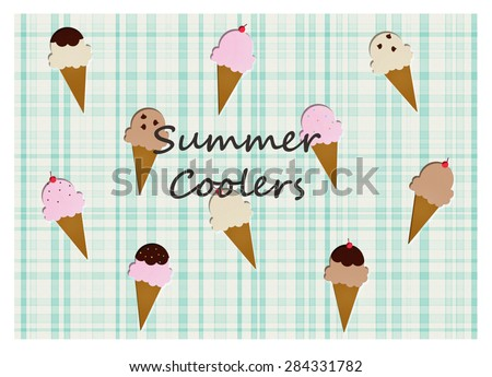 Ice Cream Cones - Summer Coolers - stock photo