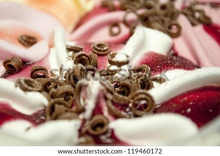 Ice cream macro shot - stock photo
