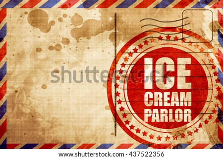 ice cream parlor - stock photo