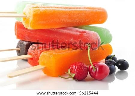 ice cream pops - stock photo