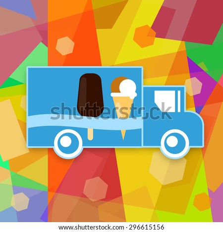Ice cream truck - stock photo