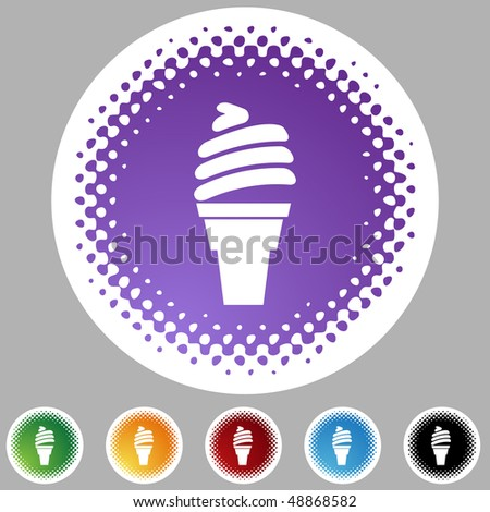 Ice Cream web button isolated on a background.