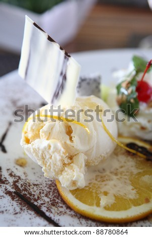 ice cream with orange