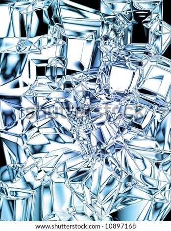 Ice cube background with soft reflections