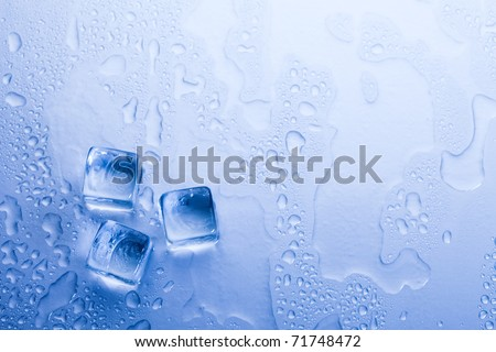 Ice cubes & aqua - stock photo