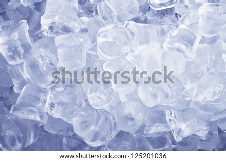 Ice cubes as a background - stock photo