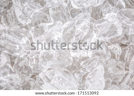 Ice cubes background close up view - stock photo