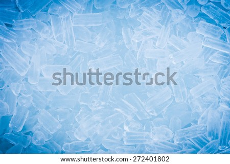 ice cubes for background with vignette  - stock photo