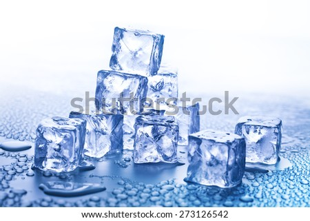 ice cubes for summer drinks