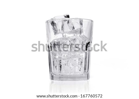 Ice cubes in a glass