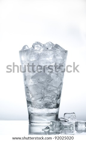 Ice cubes in the glass