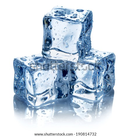 Ice cubes isolated. Clipping Path