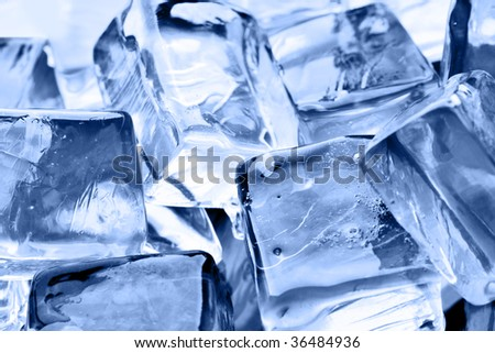 Ice cubes, may be used as background - stock photo