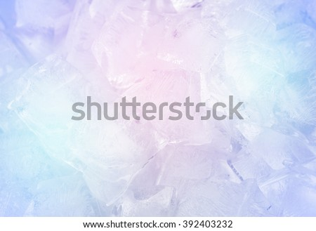 Ice cubes on the plate aluminum. - stock photo