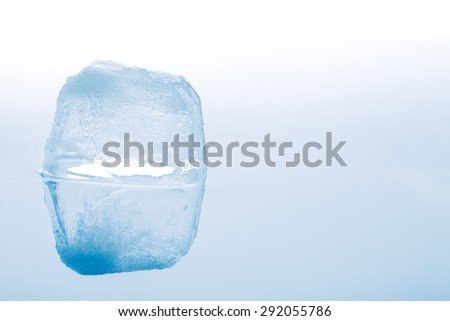 ice cubes on white background. studio shot - stock photo