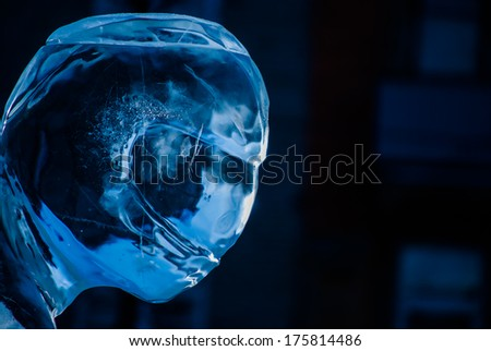 ice figure with helmet