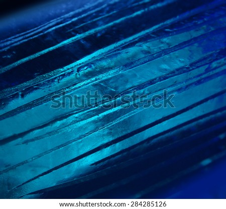 Ice formations natural blue cold winter background - stock photo