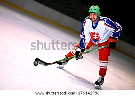 ice hockey  - stock photo