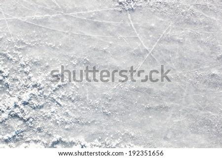 Ice hockey field surface - stock photo