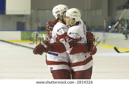 Ice Hockey. Frame #304 - stock photo